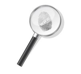 Detective magnifier with www fingerpint