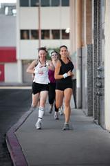 Women racing for fun.