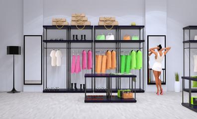 boutique abbigliamento scarpe borse vestiti negozio moda