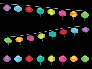lantern decoration banners