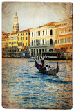Venice - artwork in retro style