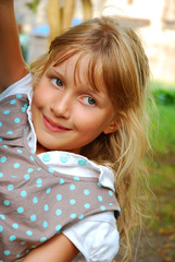 young girl `s outdoor portrait