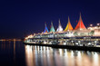 Canada Place bei Nacht in Vancouver, Kanada