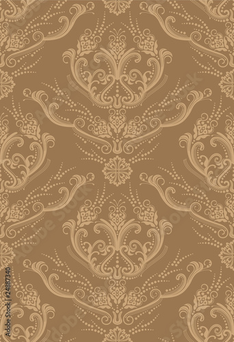 Luxury brown floral wallpaper