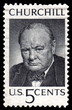 Vintage Winston Churchill USA postage stamp
