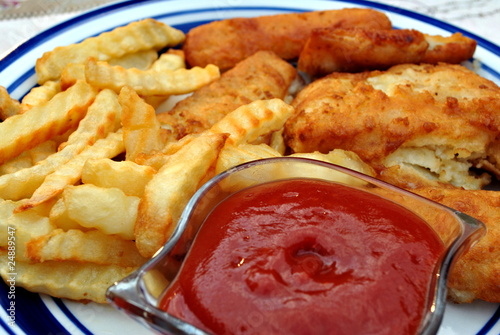 Fried fish dinner stock photo and royalty free images on for Fried fish dinner