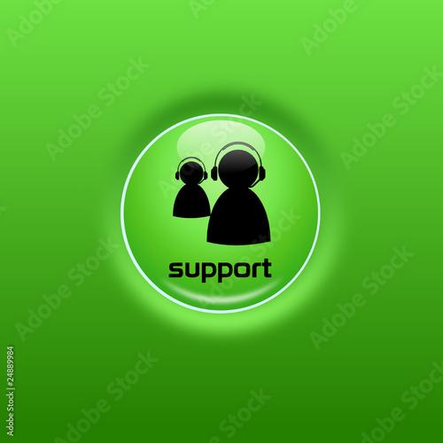 Button Support glow grün