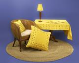 straw livingroom furniture poster