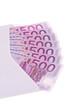 Briefumschlag mit Euro Geldscheinen
