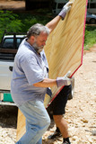 Man Unloading Plywood poster