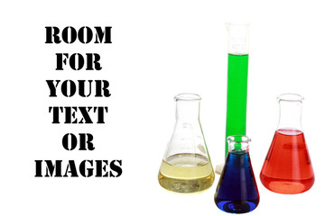 chemicals isolated on white with room for your text