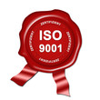 siegel, plakette iso 9001 zertifiziert