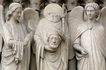 Notre-Dame de Paris, Apôtre Denis décapité (pilier sud)