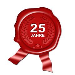 Jubiläum 25 Jahre, Silberhochzeit, Urkunde, Siegel, Plakette