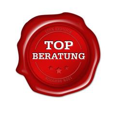 top beratung, button, siegel, plakette