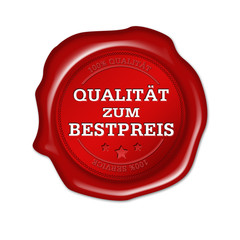 Qualität zum Bestpreis, Siegel, button, plakette