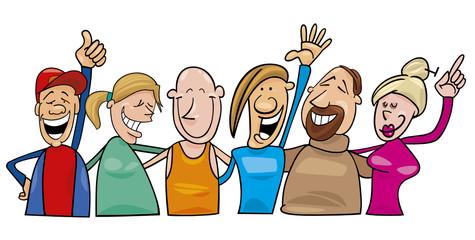 group of joyful people