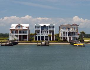 Three beach houses