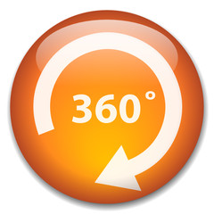 360 DEGREES Web Button (view panorama 360° 100% wide angle tour)