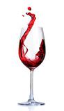 Red Wine Abstract Splashing - Fine Art prints