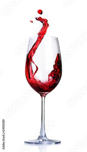 Red Wine Abstract Splashing