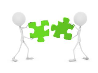 Mr. Emotion V38.1e Puzzle Pieces green