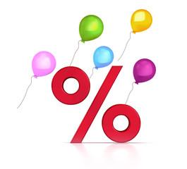 Sale, %, Ballons