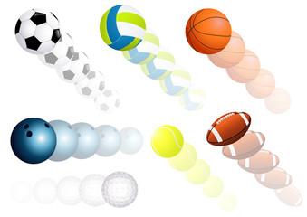 Flying balls