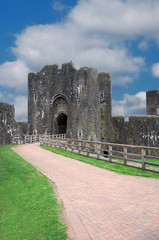 Caerphilly Castle Outer Entrance South