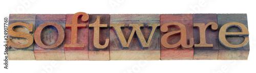 software in letterpress type