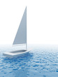 white sailing vessel travelling on ocean
