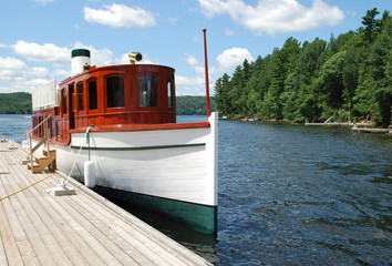 Ship on the Lake of Bays