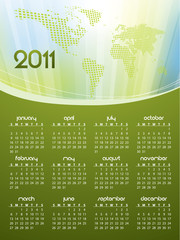 English calendar for year 2011