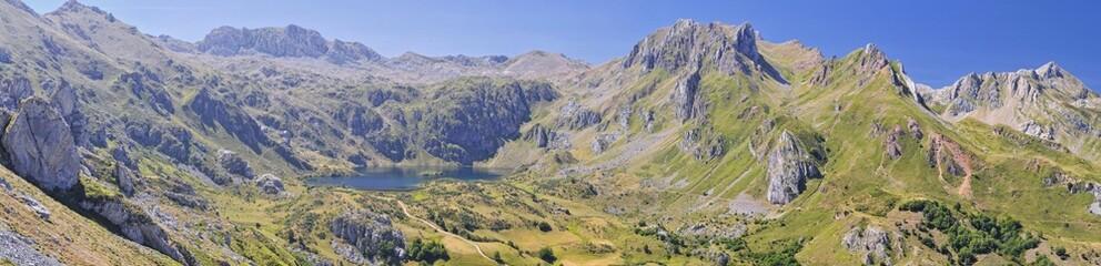 Panoramica de Lago del Valle,Somiedo,Asturias