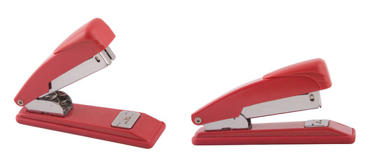 two point of view of red stapler