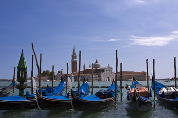 Gondolas by the Grand Canal
