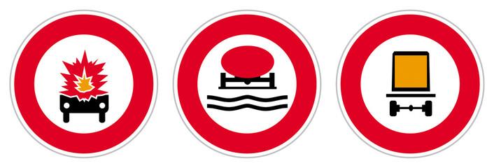 Risque TMD - Transport de matières dangereuses - Panneaux