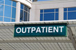 Hospital Outpatient Entrance Sign - 24919500