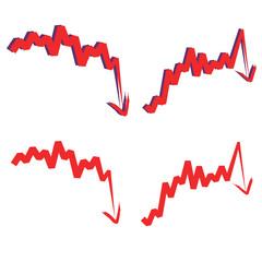 stock index, downward.