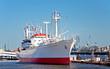 Leinwanddruck Bild - Das Museumsschiff Cap San Diego im Hamburger Hafen