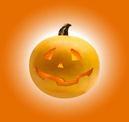 Realistic Vector Halloween Pumpkin