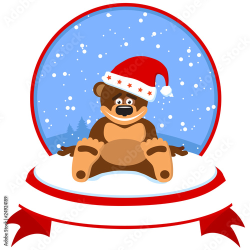 Bear cub in a cap. A vector illustration