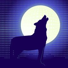Wolf und Mond