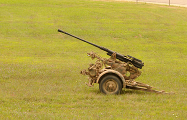 Old anti aircraft gun