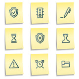 Administration icons, yellow notes series poster