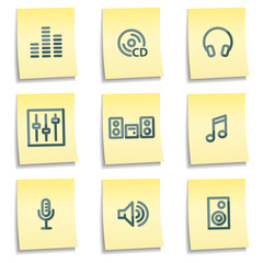 Sound icons, yellow notes series