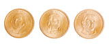 american coins with presidents poster