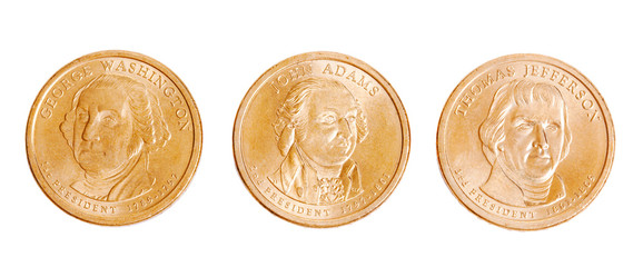 american coins with presidents