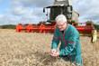 argriculteur dans un champ de blé