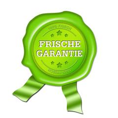 Frische Garantie, siegel, button, stempel, grün